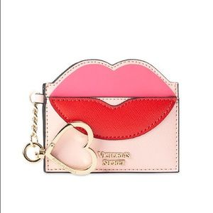 Victoria's Secret Kiss Lips Card Case Keychain